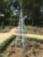 Rose climber, rose A frame, rose garden, metal plant trellis, steel plant trellis, iron plant trellis, adrian payne, little hampden forge