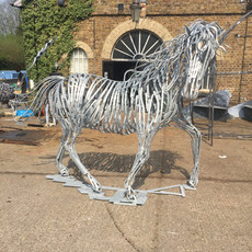 White Horse Sculpture