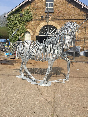 Metal sculpture, iron sculpture, steel sculpture, garden sculpture, exterior sculpture, forged sculpture, adrian payne, little hampden forge, horse sculpture, animal sculpture