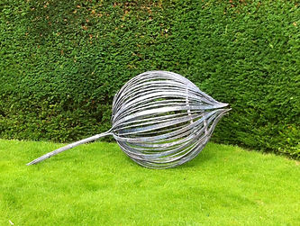 Metal sculpture, iron sculpture, steel sculpture, garden sculpture, exterior sculpture, forged sculpture, adrian payne, little hampden forge, bud sculpture