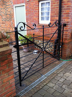Iron gate, steel gate, garden gate, hand forged gate, adrian payne, little hampden forge, estate gate, craftesman gate