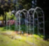 Garden Arch, steel garden arch, iron garden arch, metal garden arch, plant arch, rose arch, adrian payne, little hampden forge