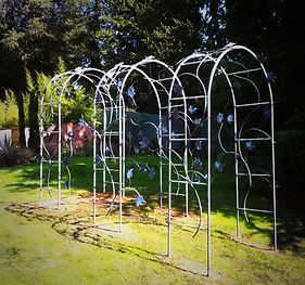 Garden Arch, steel garden arch, iron garden arch, metal garden arch, plant arch, rose arch, adrian payne, little hampden forge