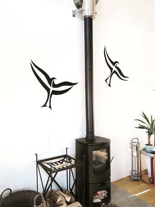 Red kite wall sculpture