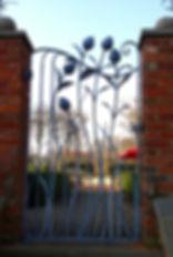Metal side gate, metal garden gate, steel side gate, steel garden gate, iron side gate, iron garden gate, artichoke side gate, artichoke steel gate, artichoke garden gate