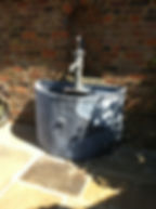 Water feature, garden water feature, metal water feature, iron water feature, steel water feature, adrian payne, little hampden forge
