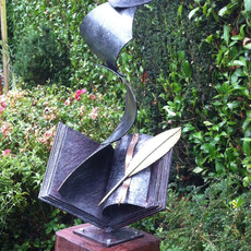 Flying Pages Book Sculpture