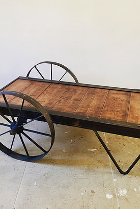 Vintage 64 Railway Luggage Trolley Coffee Table