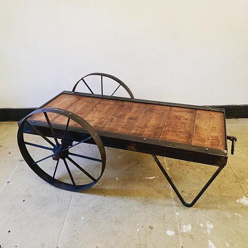 Vintage 64 Railway Luggage Trolley Coffee Table