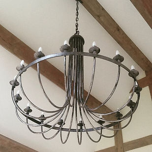 Iron light, metal light, iron chandelier, metal chandelier, steel chandelier, adrian payne, little hampden forge
