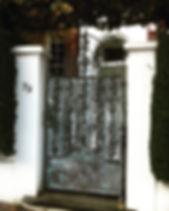 Iron gate, steel gate, garden gate, hand forged gate, adrian payne, little hampden forge, london gate