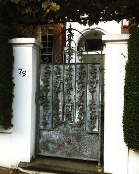Iron gate, steel gate, garden gate, hand forged gate, adrian payne, little hampden forge, london gate