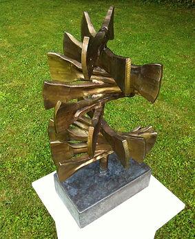Metal sculpture, iron sculpture, steel sculpture, garden sculpture, exterior sculpture, forged sculpture, adrian payne, little hampden forge, bone sculpture