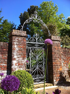 Architectural elements, gates, railings, metal gates, iron gates, scroll gate