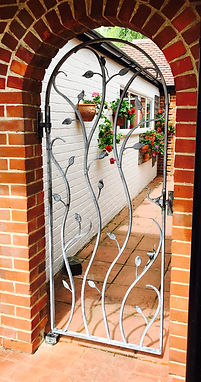 Iron gate, steel gate, garden gate, hand forged gate, metal gate, adrian payne, little hampden forge