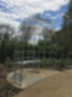 Seating arbour, rose arbour, iron arbour, steel garden arbour, custom garden arbour, adrian payne, little hampden forge