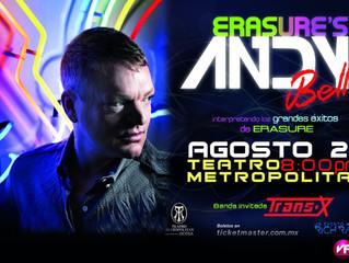 Excelsior: Andy Bell, de Erasure, actuará en el Teatro Metropólitan
