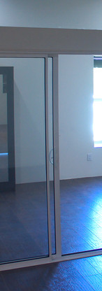 Interior sliding glass doors offering privacy and open light and bright space