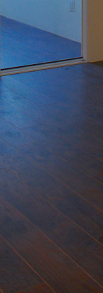 Rich dark wood laminate floors