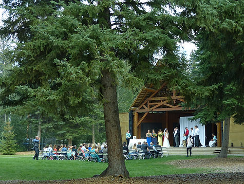 Sarah and Michael's wedding in the mountains in Canmore, AB, with violin playing by BG Mountain Studio.