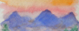 BG Mountain Studio's logo of mountains and a sky.