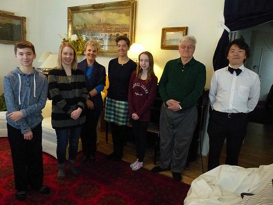 Music recital group photo.