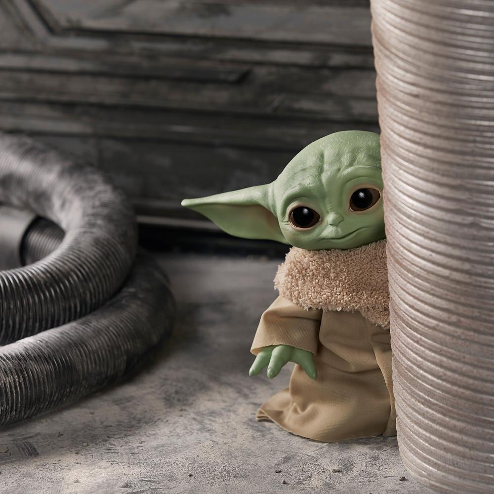 Baby Yoda from Disney+ Star Wars Mandalorian series.