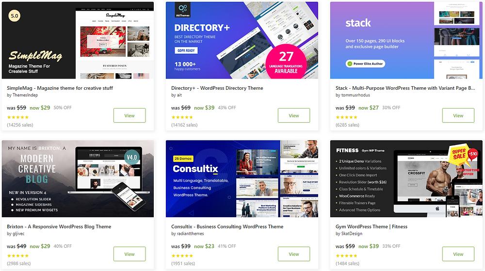 Envato Market Discounts Sales Deals Wordpress Themes cheap deals low cost word press templates