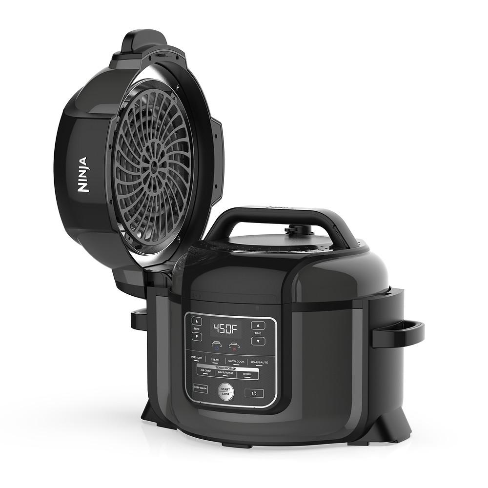 Ninja Foodi TenderCrisp 6.5-Quart Pressure Cooker, Black OP300 sale deal coupon discount promo code coupon code pressure cooker walmart