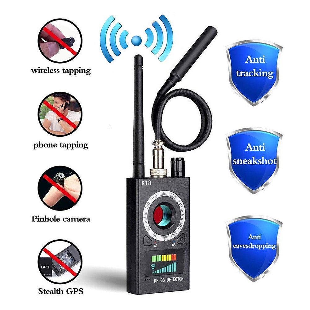 Anti Spy Detector, RF Detector & Camera Finder, Bug Detector, Upgraded RF Signal Detector, FEEKE GSM Tracking Device for Wireless Audio Bug Hidden Camera Detector