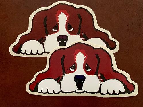 adhesivo decorativo perrito