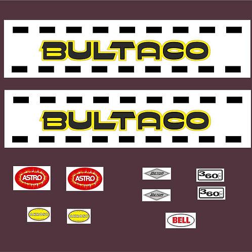 adhesivos clásicos bultaco astro