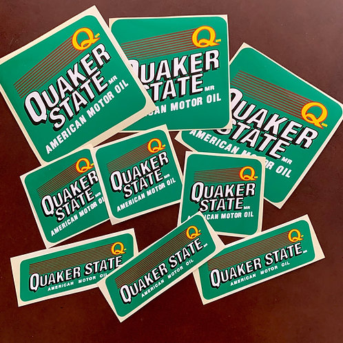 Pegatinas Quaker State American Motor Oil