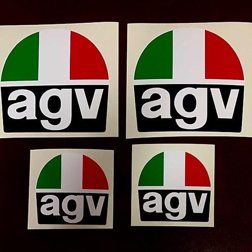 vinilos vintage marca AGV moto