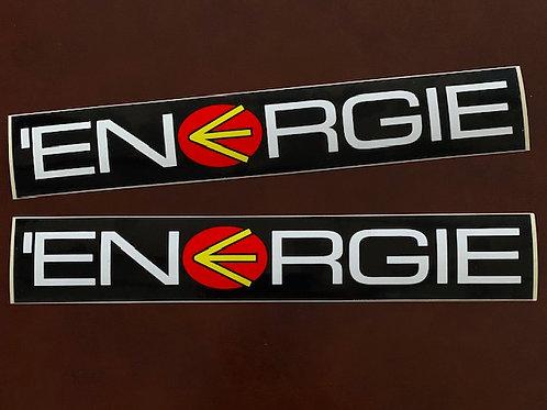 vinilo vintage logo Energie