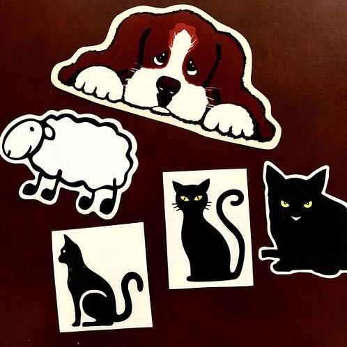 adhesivos animalitos decoración