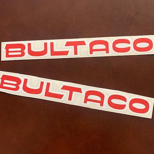 adhesivo letras bultaco color rojo