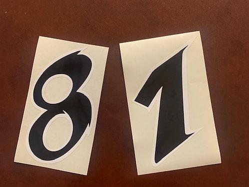 adhesivo moto números