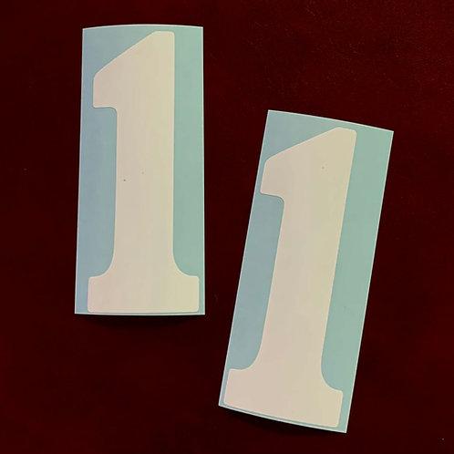 adhesivos decoración moto número uno