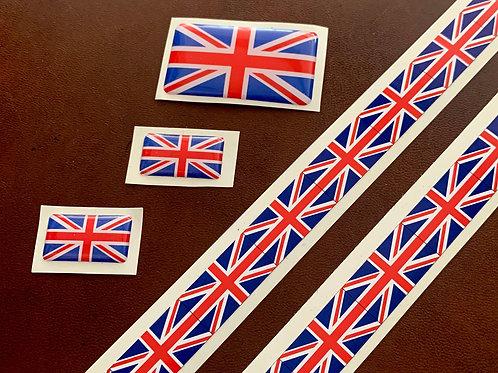 Pegatina clásica bandera Gran Bretaña