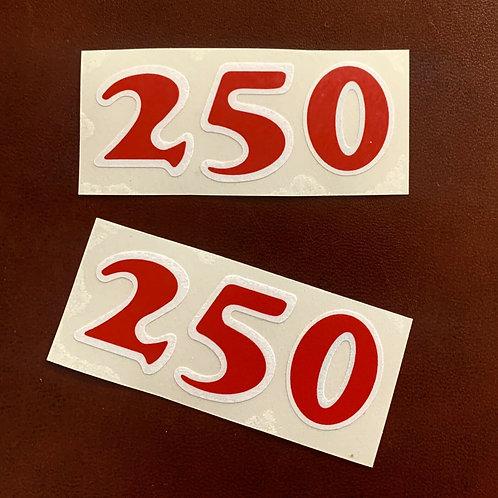 Pegatinas Numeros  Bultaco Frontera 250