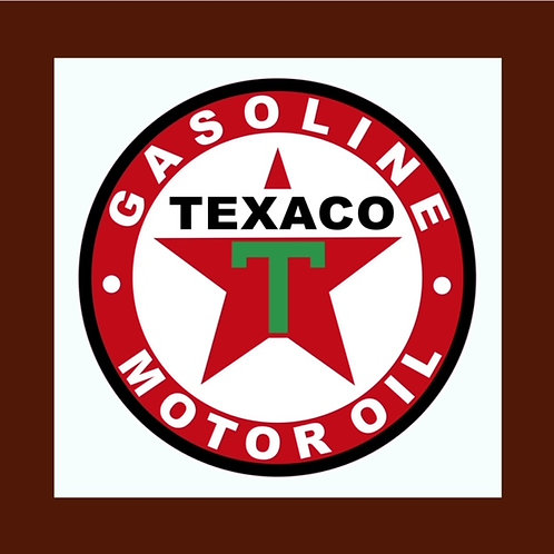 vinilo anagrama Texaco Gasoline