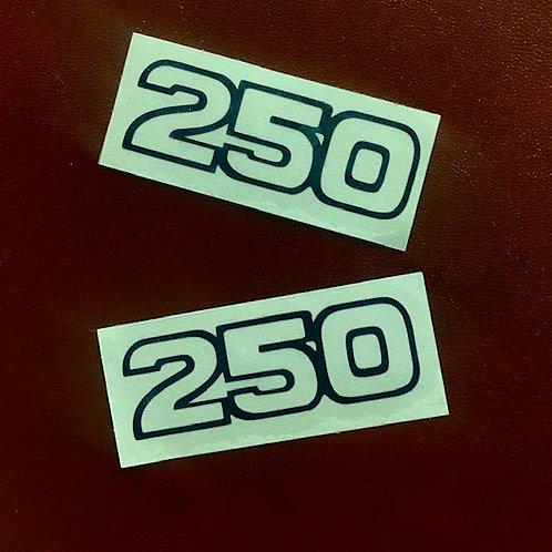 adhesivos clásicos números 250 blanco