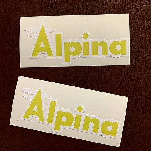 adhesivo modelo moto Alpina