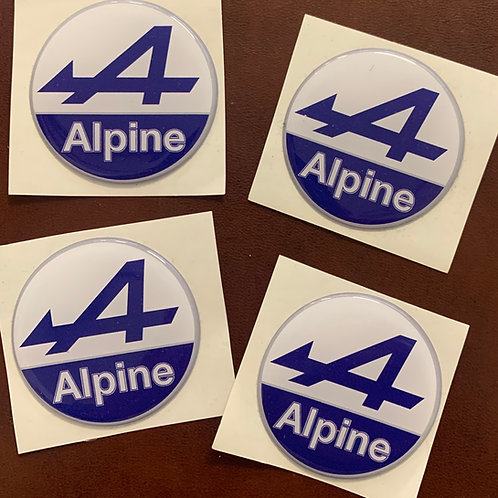 adhesivos moto Alpine con relieve