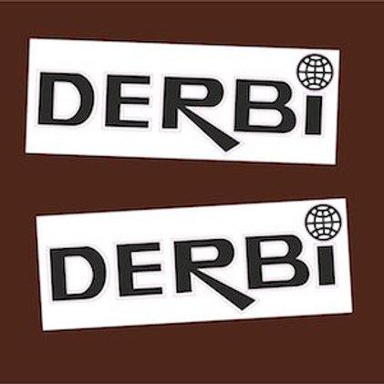 Pegatinas Derbi negras