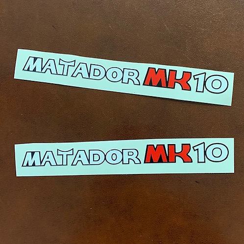adhesivos laterales Bultaco matador mk10