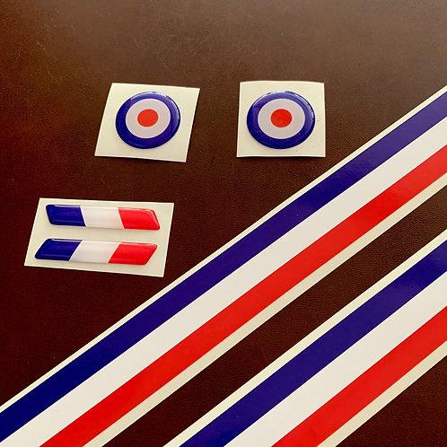 kit adhesivos bandera Francia