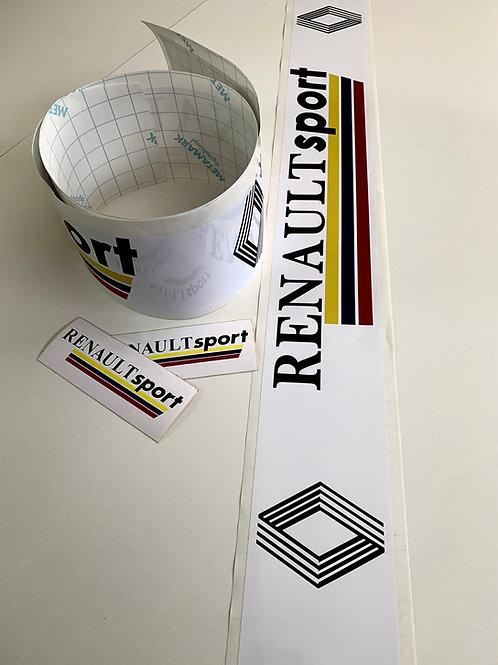 adhesivos largos coche Renault sport