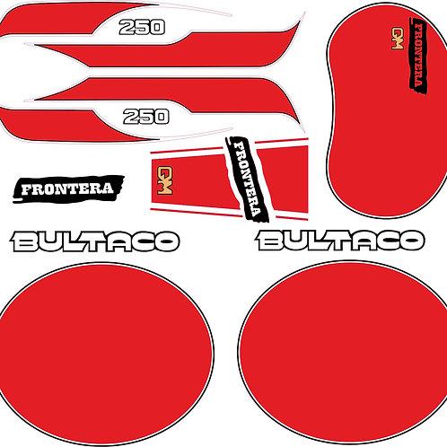Kit pegatinas Bultaco GM